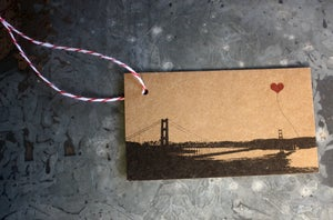 Image of Golden Gate Bridge Gift Tag by note•ify with baker's twine and recipient name