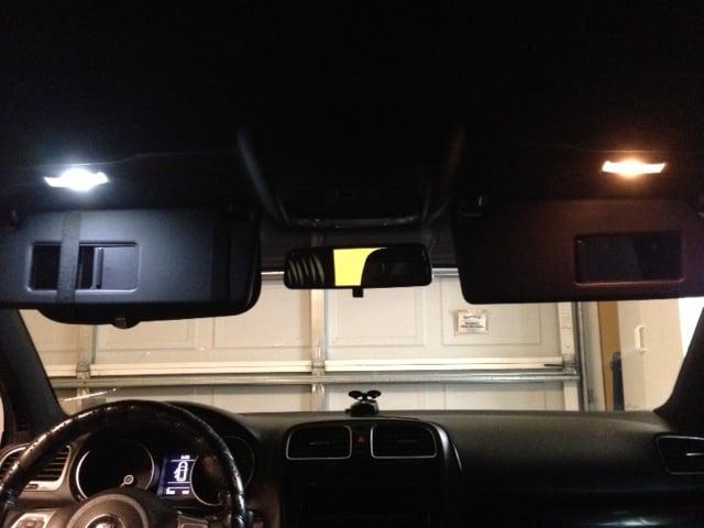 Image of Sun Visor Clean Crisp White (no blue tint) LED 2PC set fits: All Car models