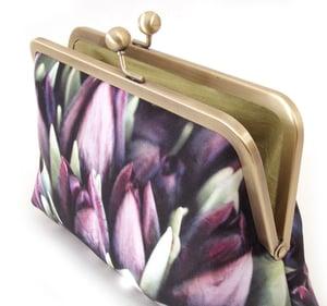 Image of Purple tulips clutch bag