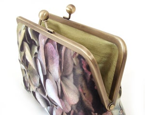 Image of Hydrangea flower clutch purse