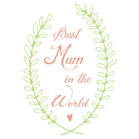 Image of 'best mum in the world' tea towel