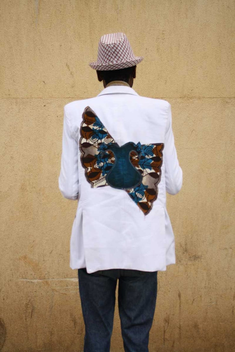 Image of Kitenge / Ankara Applique Jacket