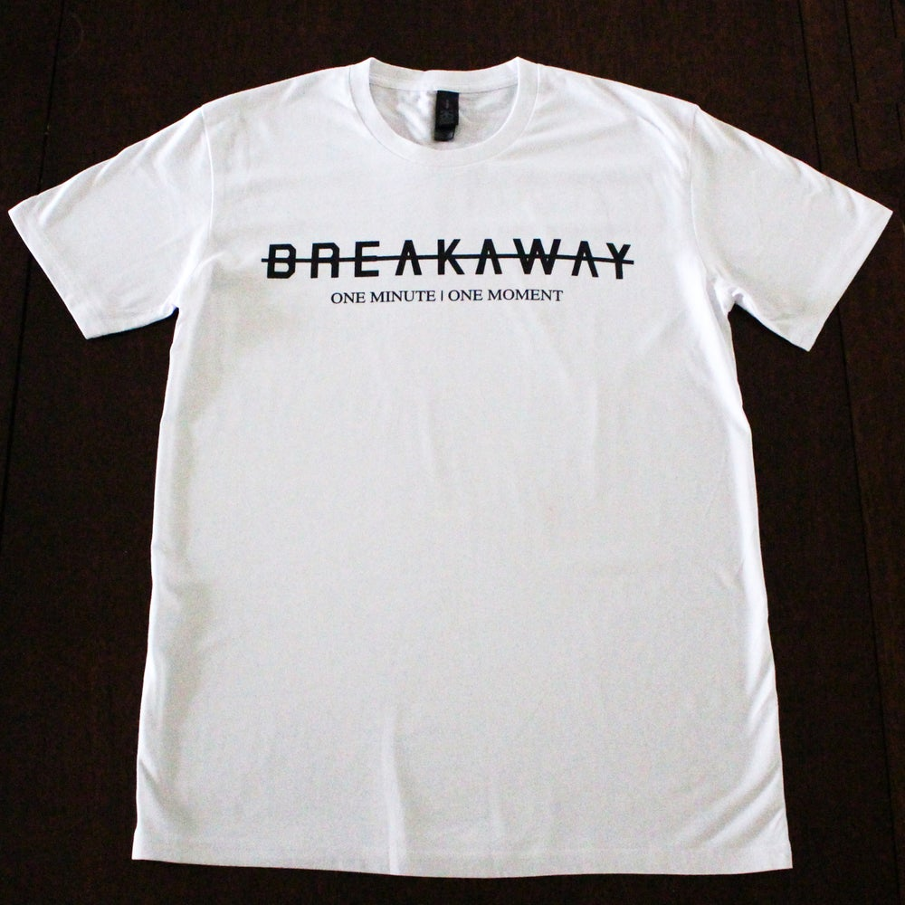 Image of 'BREAKAWAY' White T-shirt