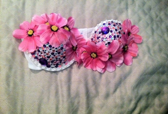 7dc7e3b849 Pure Plurfection — Pink Floral   Pearls Rave Bra
