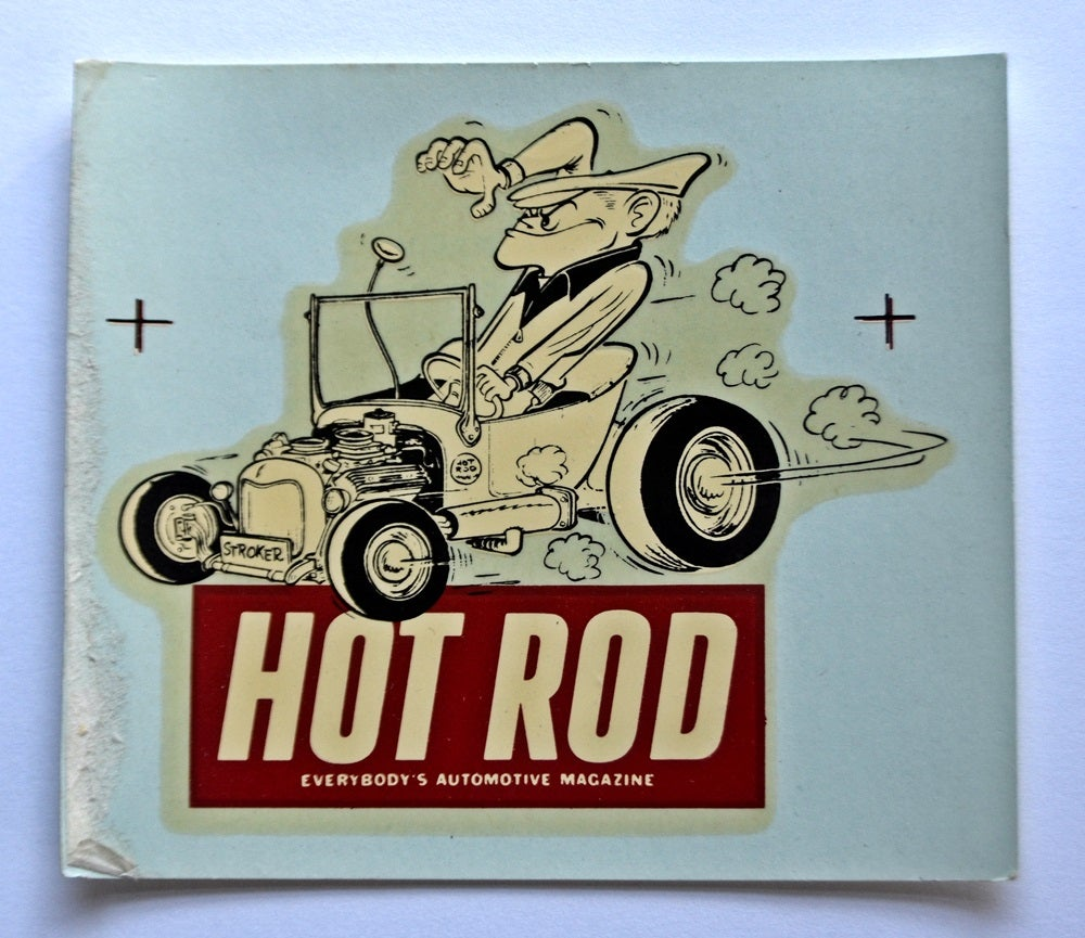 Hot Rod Magazine & Stroker water-transfer decal