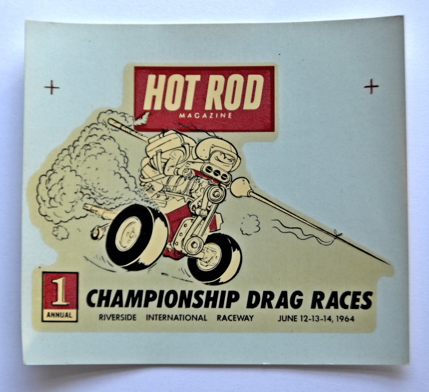 1st Hot Rod Drags Stroker water-transfer decal