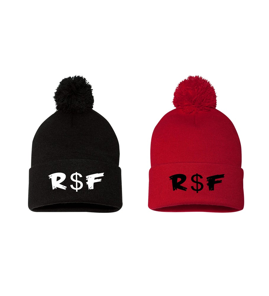 Image of R$F Acronym PuffBall Beanie
