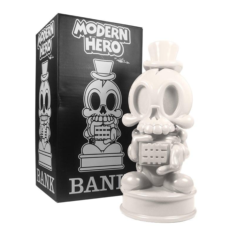 Image of 18in Modern Hero Bank (WHITE)