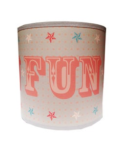 Image of 8inch Fun Shade Grey, Pink & Blue