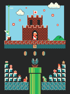 "Image of ""Super Mario Bros: Level One"" by Harlan Elam"