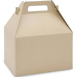 Image of Kraft or White Gable Box - Large