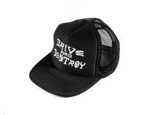 "Image of ""Drive and Destroy"" Trucker Hat, Black (P1B-T0520)"