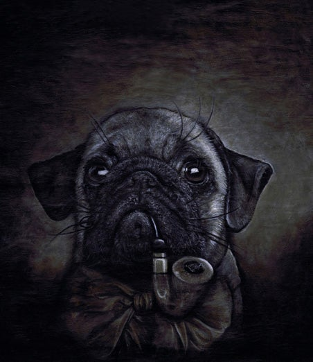 Image of Limited Edition Signed Pug with Pipe Print