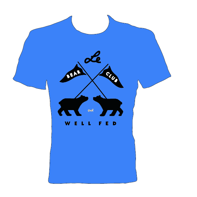 Image of BEAR CLUB x WELL FED ARTIST SOCIETY Shirt (Blue)