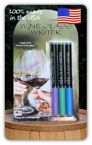 Image of Wine Glass Writer Spring Colors 3 Pack