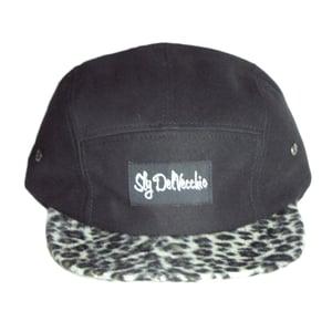 Image of Black/Cheetah Brim 5 Panel Hat