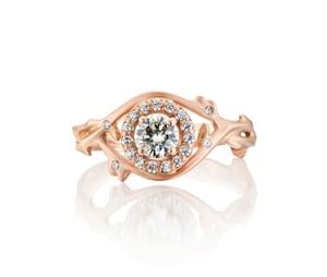 Image of custom bramble halo ring