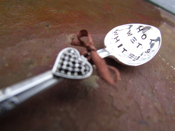 Personalised Vintage Silver Plate Teaspoon Small - Laura Pettifar Designs