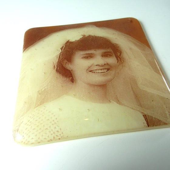 Image of Photos fused on glass 10cm x 10cm coaster