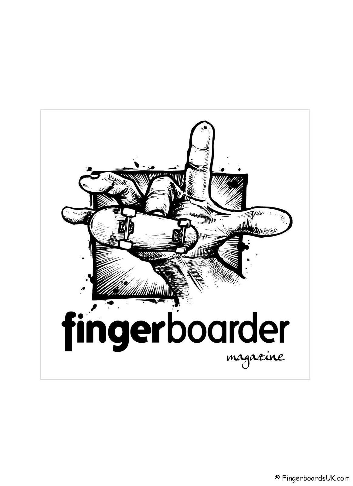 fingerboarder magazine - sticker