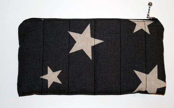 Image of Kosmetikpung - Grå med stjerner