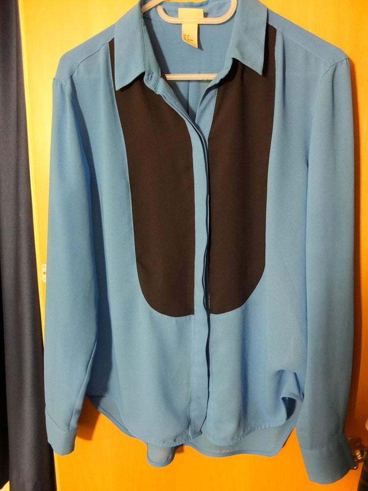 "Image of Blue ""tux"" shirt"