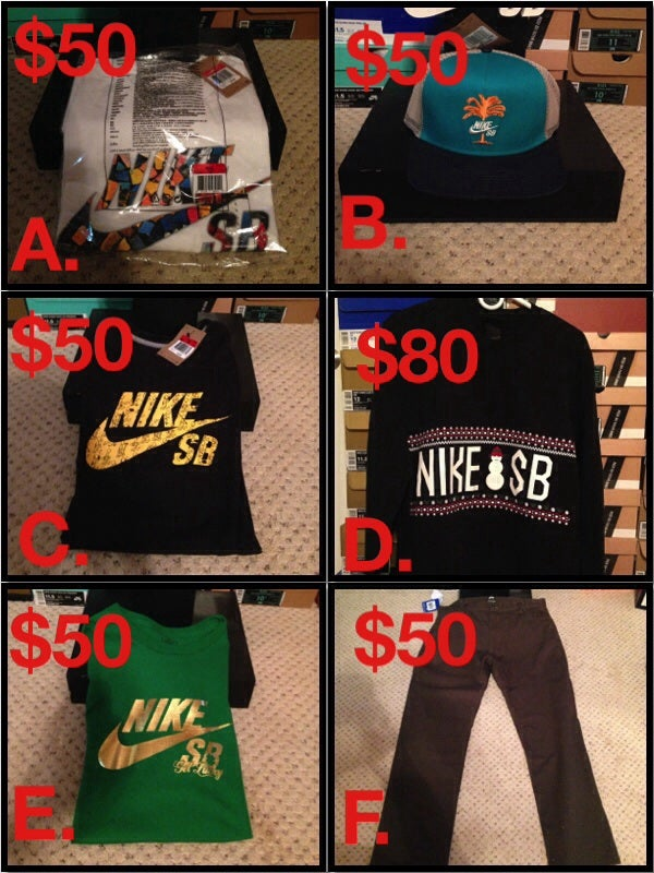 NIKE SB ICON T-SHIRT, UGLY SWEATER AND MIA HAT