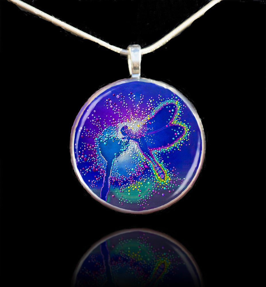 Image of Blue Dragonfly Metaphysical Life Force Pendant II - Emits powerful elemental energies
