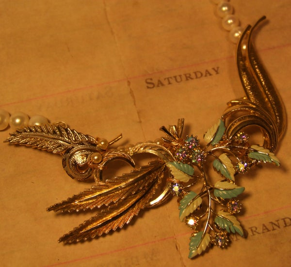 Adrienne Vintage Goldtone Necklace - Laura Pettifar Designs