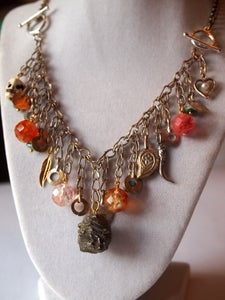Image of 3-in-1 Charm Necklace - Pyrite Delight