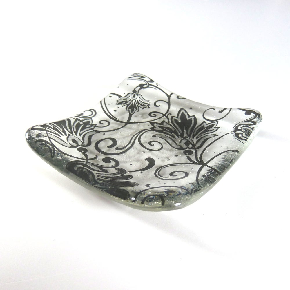 Image of Black and Clear Trinket Dish