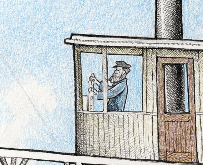 "Image of Stikine Steamship, 13"" x 16.5"""