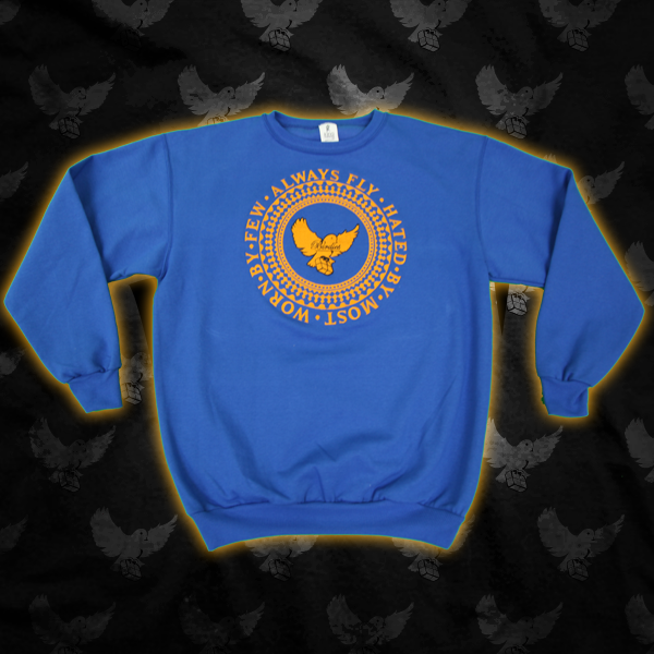 Image of Blue/Gold Birdies Always Fly Crewneck