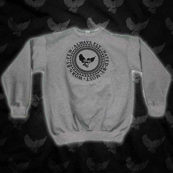 Image of Grey/Black Always Fly Crewneck Sweater