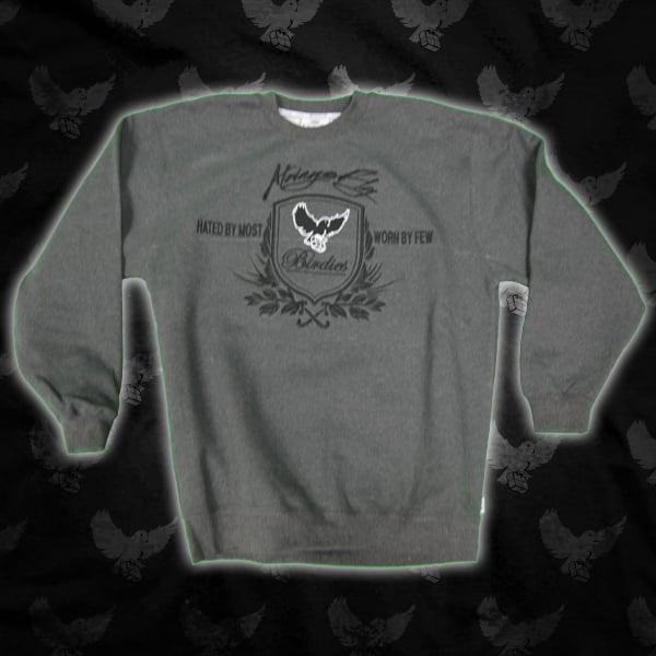 Image of Grey/Black Crest Crewneck Sweater