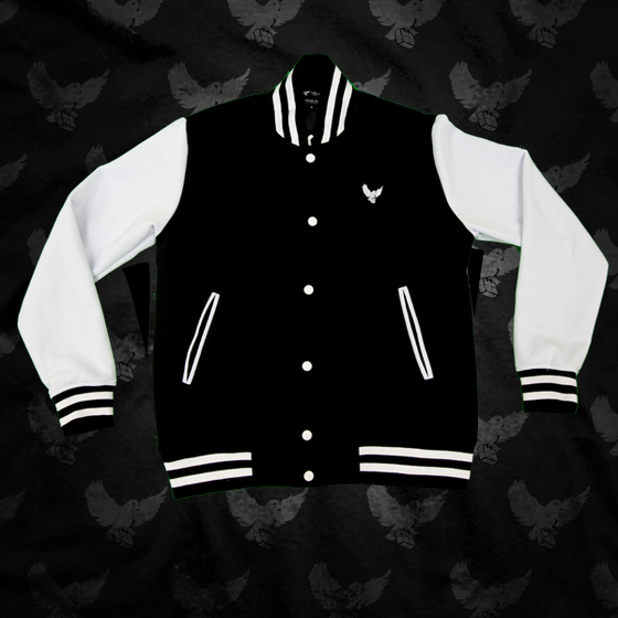 Image of Black/White Birdies Varsity Jacket