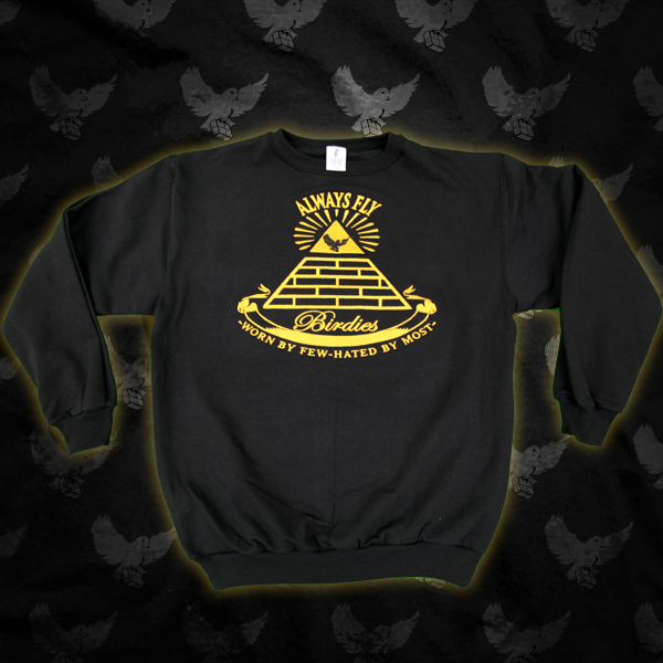 Image of Black/Gold EyeOfTheBird Crewneck Sweater
