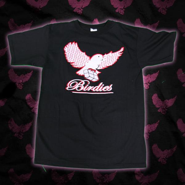 Image of Black/White&Red Birdies Wings T-Shirt