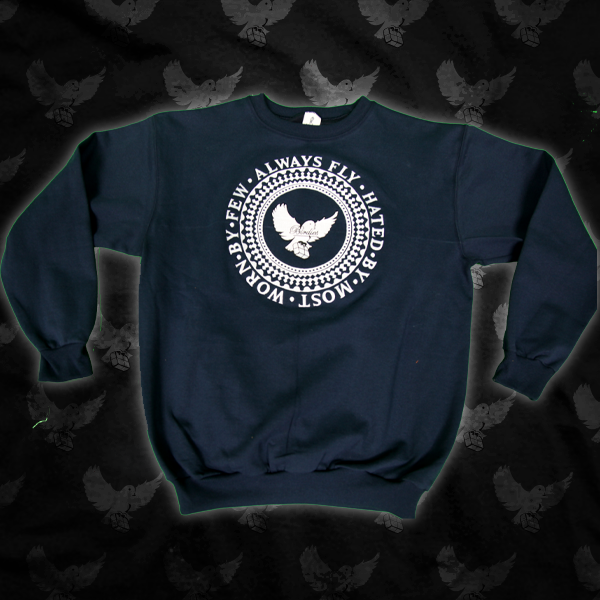 Image of Black/White Crest Crewneck Sweater