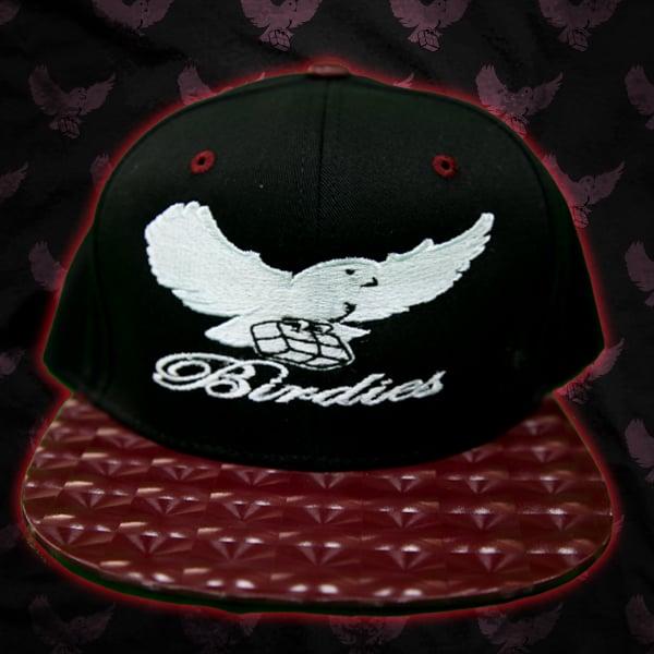 Image of Black/Burgandy LTD Birdies Snapback