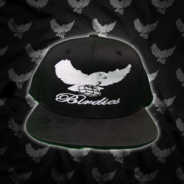 Image of Black/Black Print Birdies Snapback