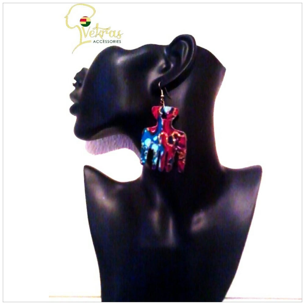 Image of Vekras Multicoloured Afro Comb Earrings