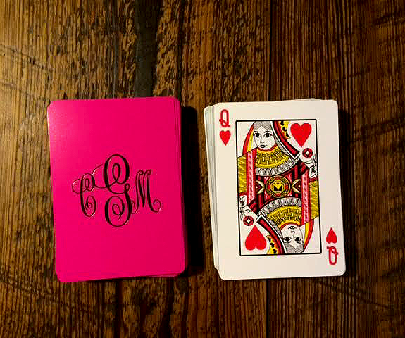 Image of Monogrammed Playing Cards