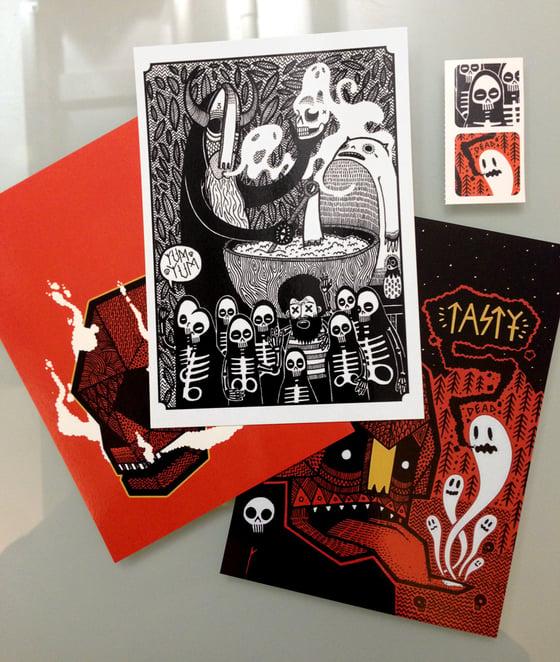 Image of Postcard & Sticker Pack