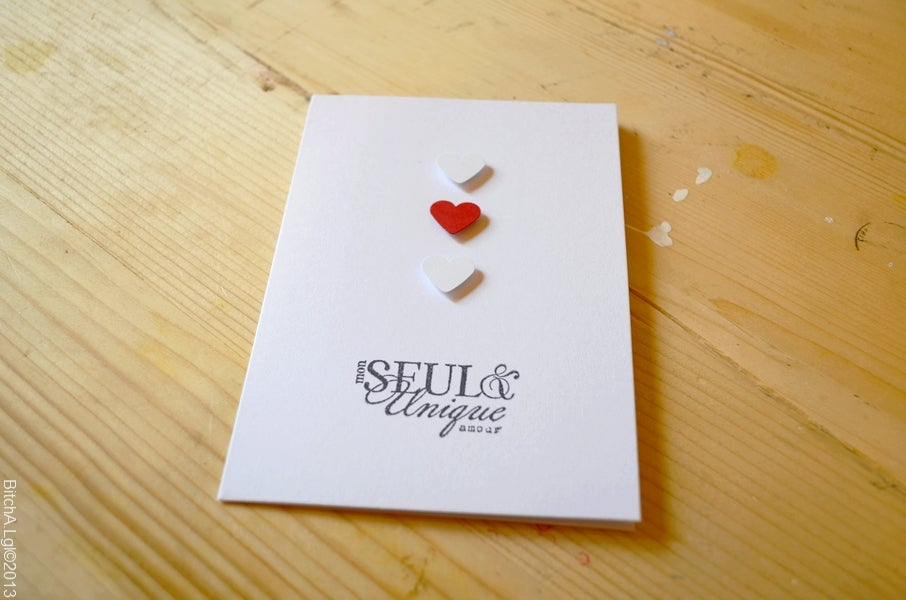 """Image of Carte de Saint-Valentin """"Mon Seul et Unique Amour"""" au Coeur Rouge"""