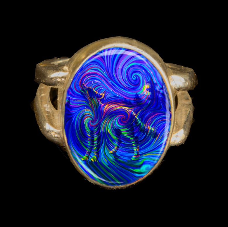 Image of Spirit Wolf - Metaphysical Energy Ring