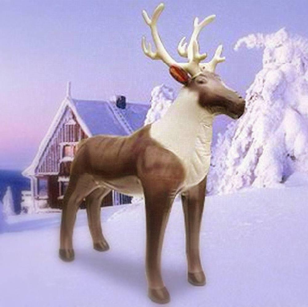 Image Of Lifesize Inflatable Reindeer (7u0027 ...
