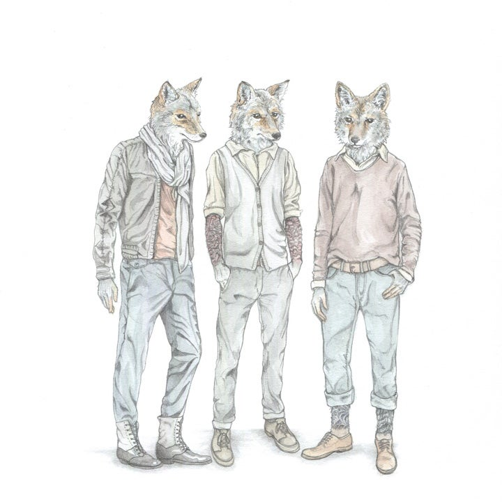 Image of Fashion-forward Coyotes: original art