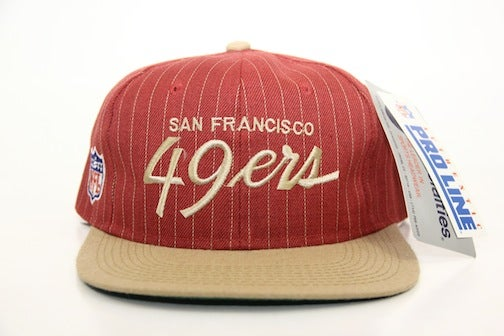 08a251a9ebe7c The Vault — NFL Vintage San Francisco 49ers Script Snapback
