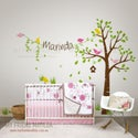 NEW!! Tree With Childs Name Wall Decal Sticker Birds
